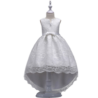 Baohulu幼児リトルガールウエディングレースのドレスチュチュ子供白プリンセスドレスvネック大きな弓結婚式vestidos誕生日服