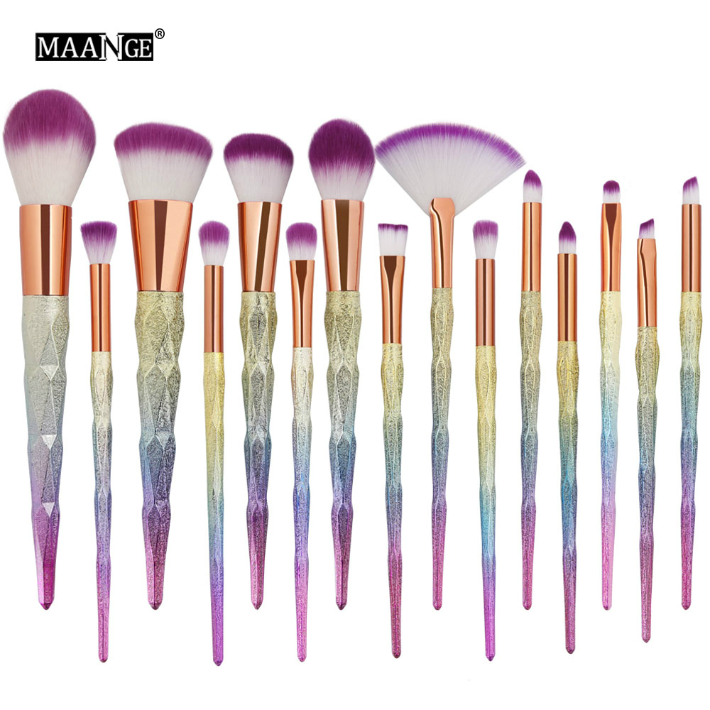 MAANGE 10-<font><b>15</b></font> Pcs Qualität Make-Up Pinsel <font><b>Set</b></font> Schönheit Werkzeug Power Foundation Lidschatten Erröten Blending Contour Kosmetik Make-Up pinsel image