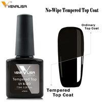 #70916 Venalisa Tempered No Wipe Top Coat Long Lasting Time Luxury Surface Glassy Bright Base Coat Primer Top Coat