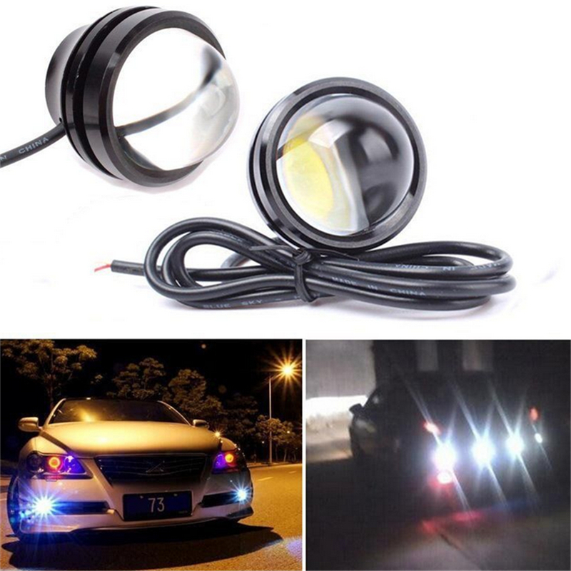 2piece/lot 15W 12V Super Bright W LED Light Eagle Eye Daytime Running Light DRL Lights Waterproof Parking for most of car 2015new arrival eagle eye 3 smd led daytime running light 20pcs lot 10w 12v 5730 car light source waterproof parking tail light