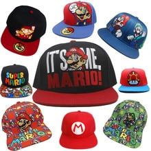 Juego Super Mario Bros de béisbol camionero sombrero de algodón Luigi Mario  gorra ajustable Hip Hop 61a801045e8