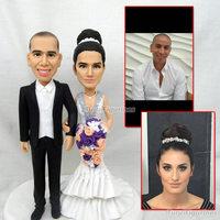 handmade wedding cake topper gift diy present for bride and groom girlfriend boyfriend custom figurine doll polymer clay dolls