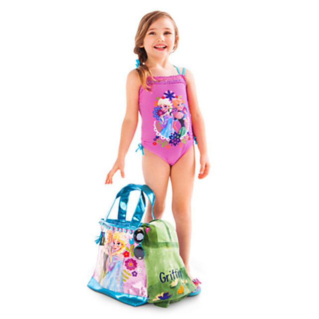 debfd8874e HOT Cinderella girls swimsuit child swim wear girls swimwear baby swimsuits  beach girl swimming suit summer kids clothes Retail