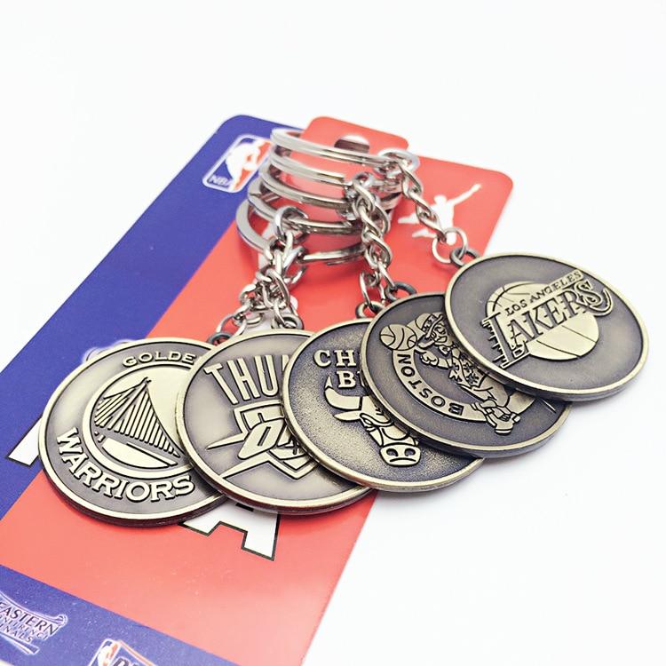 Nba Team Logo Car Key Ring Basketball Association Keychain