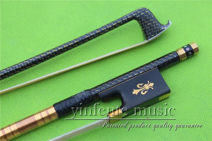 Здесь можно купить   X-025 # new one  4/4 Violin Bow   Carbon Fiber Fine Flame Sliver String High Quality Спорт и развлечения