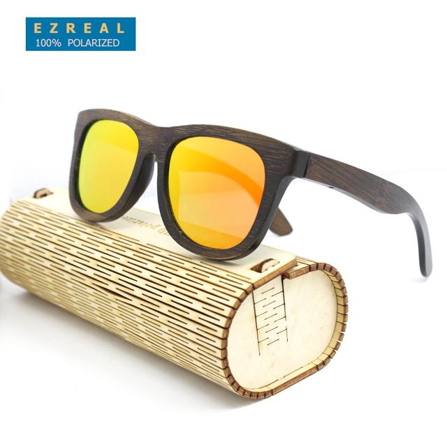 2016 Homens Novos óculos polarizados Óculos De Sol De Bambu de Madeira De Madeira óculos de Sol Das Mulheres Designer De Marca Original Óculos oculos de sol masculino
