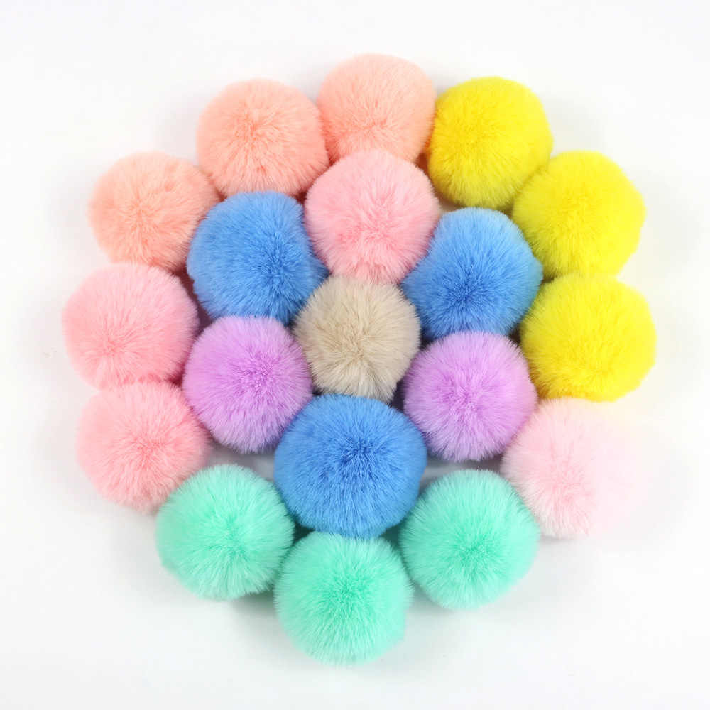 da07e06e67 DIY 5cm Faux Bunny Fur Pom Pom Ball for Women Earring Shoes Handbag Keychain  Hat Phone