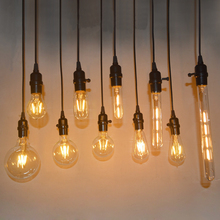 ФОТО 5pcs vintage led filament bombillas light glass ball bombillas led bulb edison candle light 2w 4w 6w led bulb e27 retro lamp
