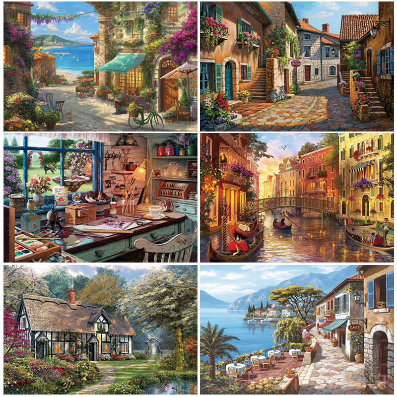 New ! 1000 Pieces Jigsaw Picture Puzzles 1000 Pieces Paper/Wooden Educational Wooden Toys For Adults Children Kids Games D166
