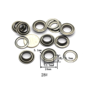 14mm(inner) eyelets grommets with washers Metal Grommets rivets metal eyelets for canvas leather craft shoes