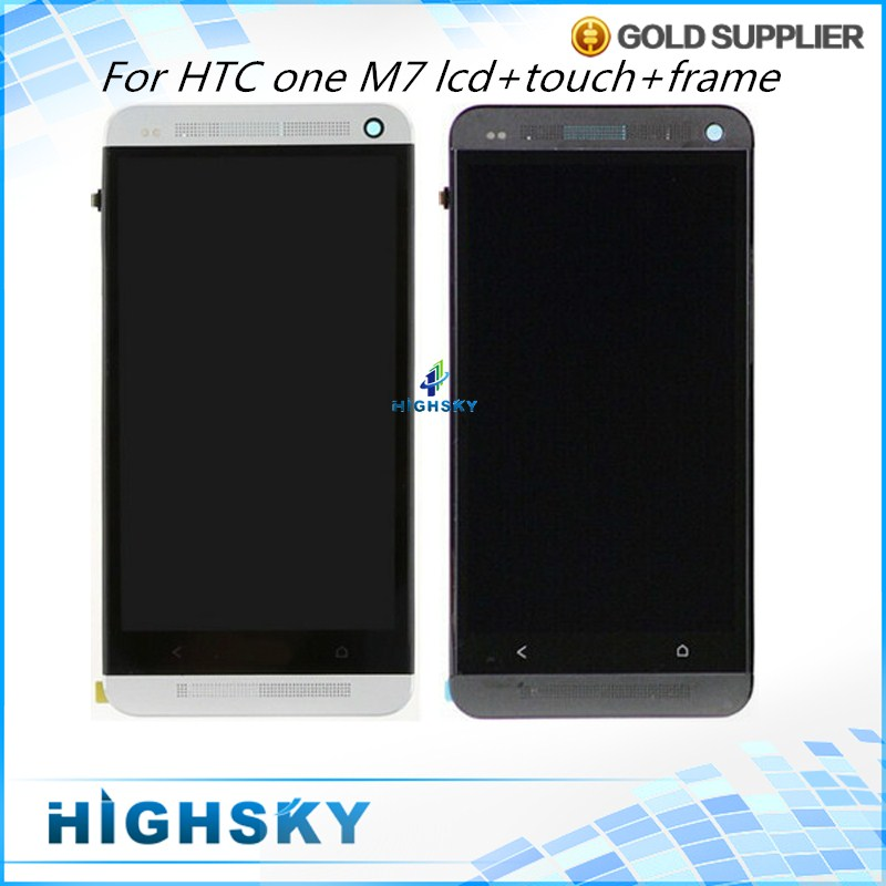 Подробнее о New Tested Black White For HTC ONE M7 LCD Display 801E With Touch Screen Digitizer + Frame 4.7 inch 1 Piece Free Shipping 1 piece free shipping tested replacement repair parts 4 7 inch screen for htc one m7 801e lcd display with touch digitizer