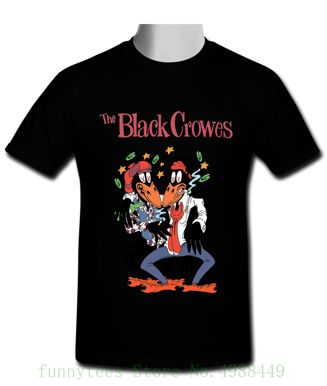 The Black Crowes Classic Black T Shirt Size S To 2xl T Shirt Cartoon Funny Fashion image