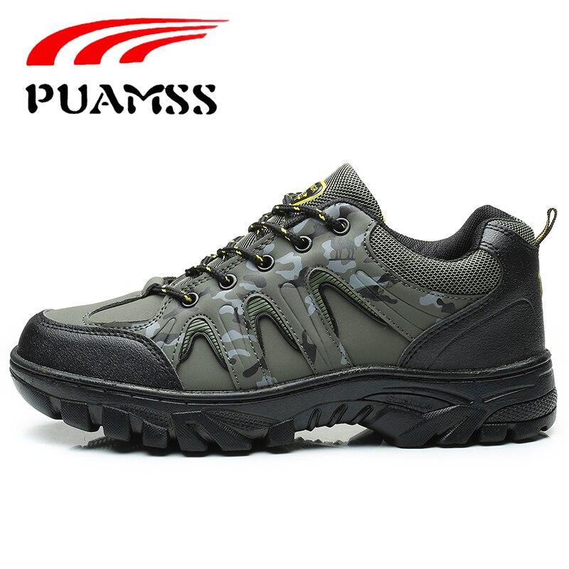 e932cdd14fd PUAMSS Men s Hiking Shoes Anti-Slip Outdoor Sport Shoes Walking Trekking  Climbing
