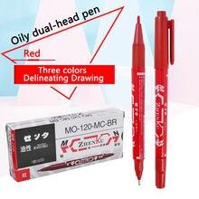 Тату маркер для кожи ручка пирсинга двойной наконечник хирургическое