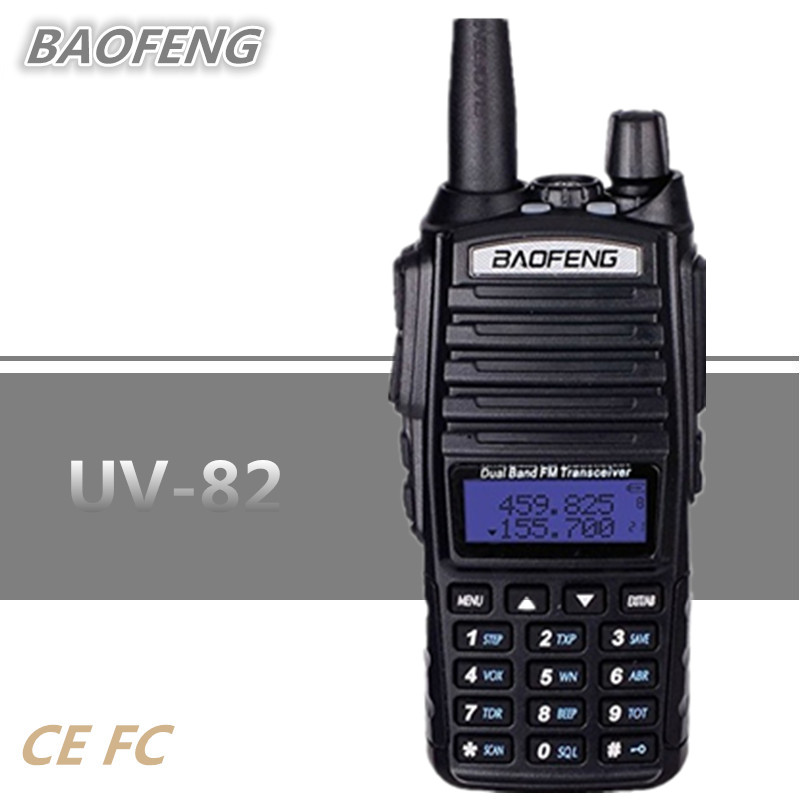 10 KM BAOFENG UV-82 PTT Portable Émetteur-Récepteur Radio uhf vhf Double CB Radio 8 W Talkie Walkie Communicador VOX FM interphone UV82 UV 82