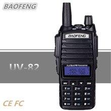 10 км BAOFENG UV-82 PTT Портативная радиостанция uhf vhf двойной CB радио 8 Вт двухканальные рации Communicador рация домофон UV82 UV 82