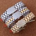 Pulseiras De Aço inoxidável Pulseiras 20mm Prata pulseiras de relógio extremidade curva cintas De Prata Folding Implantação entrega rápida
