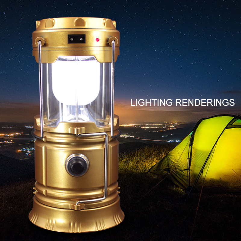 Led Solar Camping Led Lamp+Rechargeable Flashlight