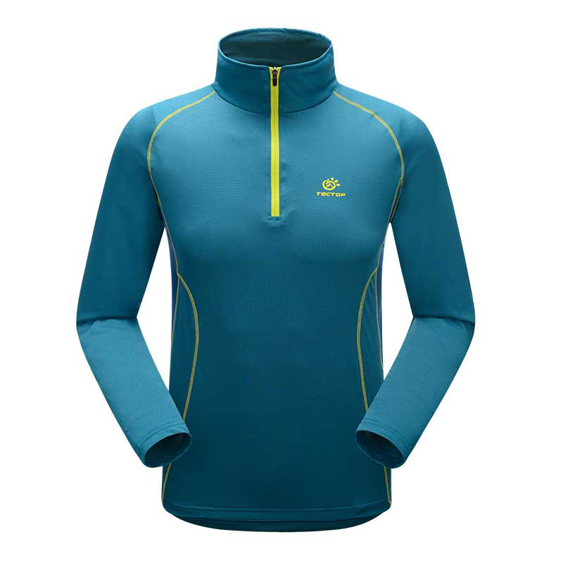 ФОТО Mens 1/4 Zip Pullover Quick Dry Stand Collar Long Sleeve T-shirt Outdoor Sport Football Soccer Basketball Uv-protection T Shirt
