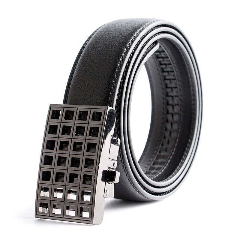 El Barco High Quality Leather Men Belt Black Gold Automatic Buckle Crocodile Male Belts Luxury Brand Designer Casual Waist Strap Back To Search Resultsapparel Accessories