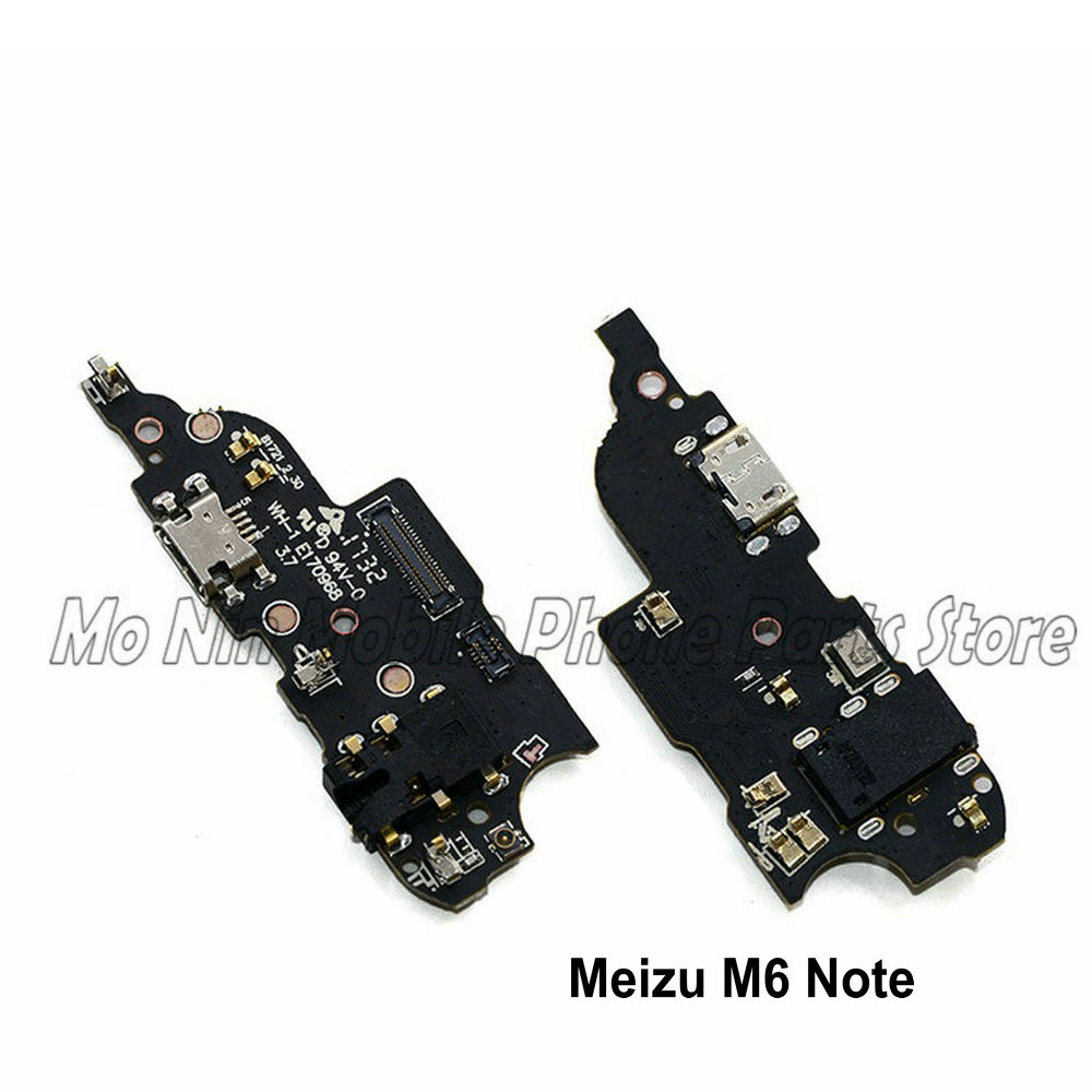 New Microphone Module+USB Charging Port Board Flex Cable Connector Parts For Meizu M6 Note M6Note Replacement