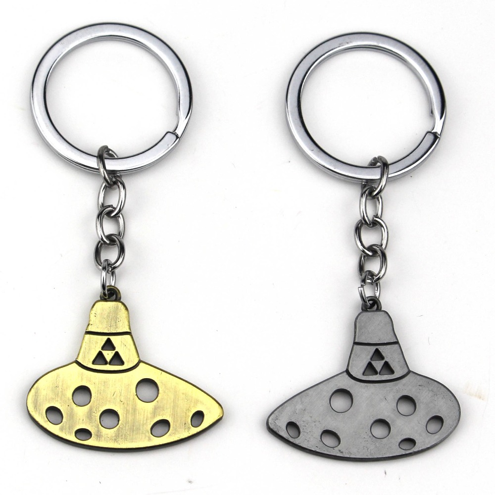 New Fashion Hot Game The Legend of Zelda Keychain Llaveros Triforce Ocarina Of Time Key Chain Ring Holder For Car Fans Chaveiro