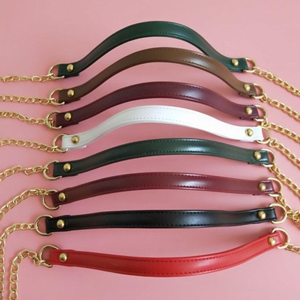 120cm PU Metal Chain Shoulder Bag Strap Bag Handles Replacement Handbag Buckle Handle DIY Belt Bag Strap Accessories For Bags