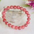 Genuine Natural Argentina Red Rhodochrosite Stretch Finished Bracelet Round beads 8.5mm Jewelry Beads Marriage 04395