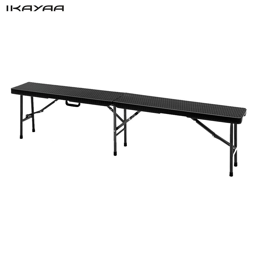 Wondrous Us 57 24 25 Off Ikayaa Fr Stock 6Ft Camping Picnic Bench Heavy Duty Outdoor Garden Party Dining Bbq Bench Long Portable Folding Bbq Chair In Patio Pabps2019 Chair Design Images Pabps2019Com