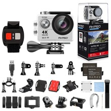 Akaso серебро ek7000 4 К WI-FI Открытый Действие Камера видео спортивные Pro Камера WI-FI Ultra HD Водонепроницаемый видеокамера Go водонепроницаемый