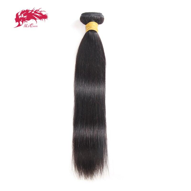 Али королева, индийские прямые натуральные волосы, пряди натуральных волос, от 8 до 26 дюймов, 100% натуральные волосы, ткачество