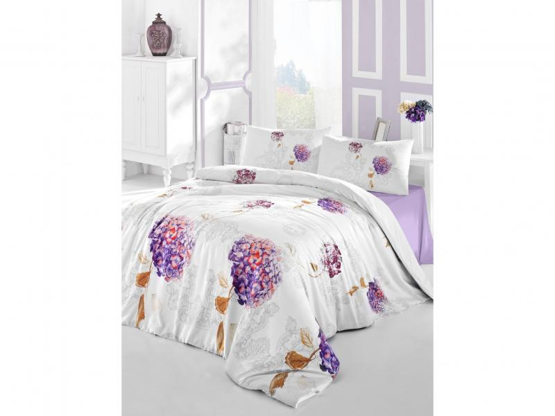 Bedding Set double-euro ALTINBASAK, HIDRA, purple cata isla hidra