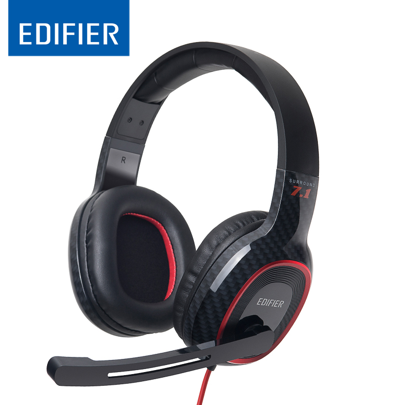 EDIFIER G20 Professional USB Gaming Headset High Quality With 7.1 Virtual Surround Sound Super Bass Hifi Stereo Music Headband edifier g20 game headphone 7 1 virtual surround sound gaming headset with rotatable unidirectional microphone usb game headset