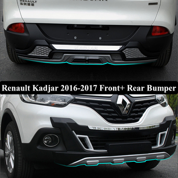 Fit For Renault Kadjar 2016-2017 2018 Front+ Rear Bumper Diffuser Bumpers Lip Protector Guard skid plate ABS Chrome finish 2PES