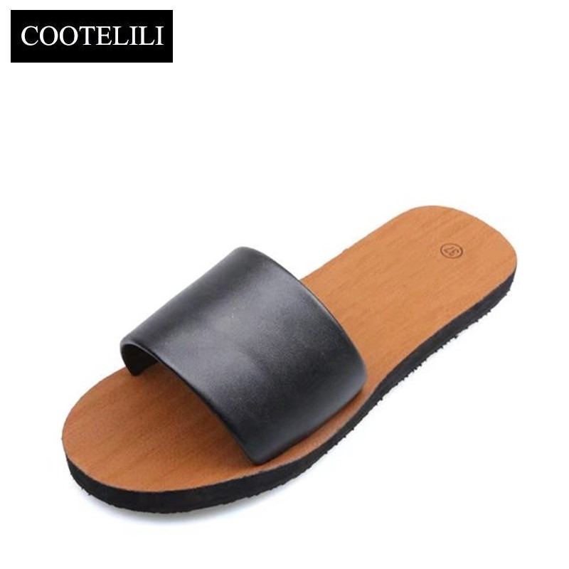 COOTELILI Women Slides Beach Sandals Summer Slippers Woman Casual Slip on Flats Shoes Black White Dropshipping poadisfoo 2017 new summer style slip on women sandals flats for women black white color slippers shoes women hykl 1603