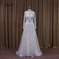High Quality A Line Sashes Wedding Dresses 2017 Custom Size Detachable Train Tailored Short Long Special