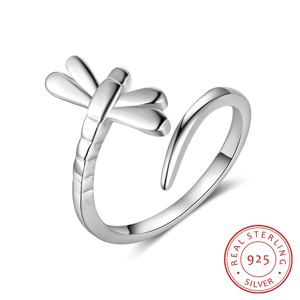 925-Sterling-Silver Rings Dragonfly Adjustable Jewelry-Accessories Gift Fashion Women