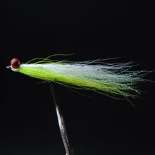 ICERIO 10PCS #4 Saltwater Fly Fishing Flies (Trout,Bonefish,Redfish) Clouser Deep Minnow Fishing Lures Chartreuse/White