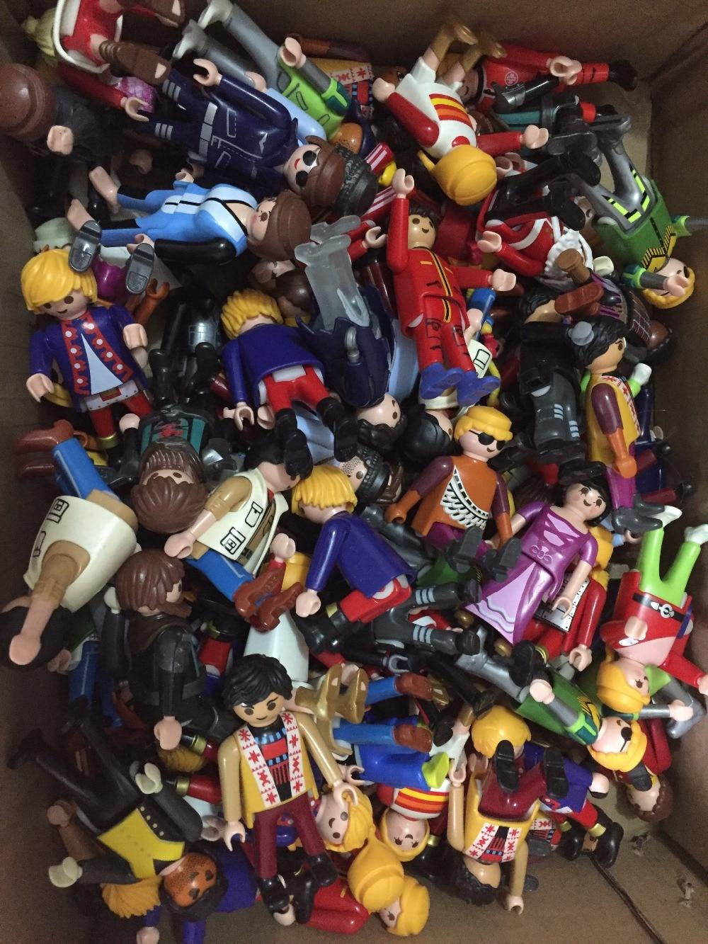10pcs/lot 7.5cm Playmobil Dolls City toys Childrens Building Playmobil Building Blocks Bricks action figure