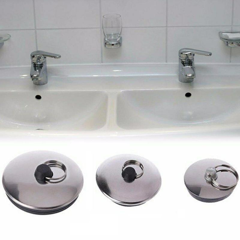 Stainless Steel Kitchen Drain Plug Water Stopper Kitchen Bathroom Bath Tub Sink Basin Drainage Bathroom Sink Bathtub Drains