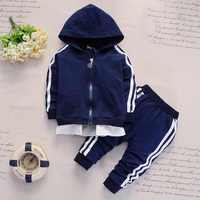 2019 New Spring and Fall 1-4 Years Old Fashion Casual Baby Long Sleeve Hoodie Trousers Two Children Suit Kids Clothes