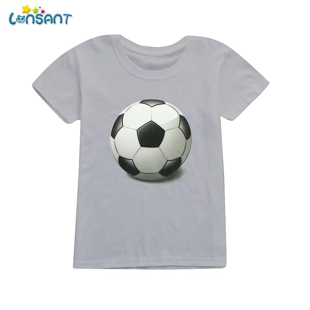 LONSANT Summer Top Children Infant Kid Girls Boys Football Soccer Print Casual T-shirt Tops Shirts Clothes