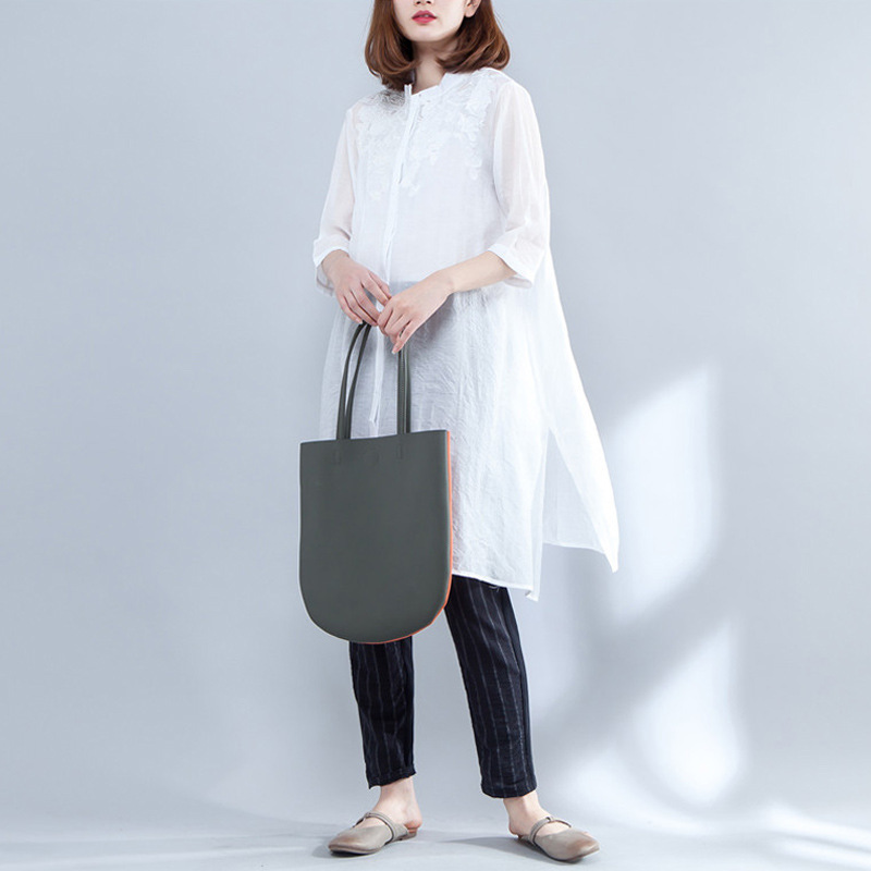 [Aiweier] 2018 Autumn New Cotton Linen Shirt Solid Long Shirt women Tops wear elegant Lapel Blouses Female Clothes