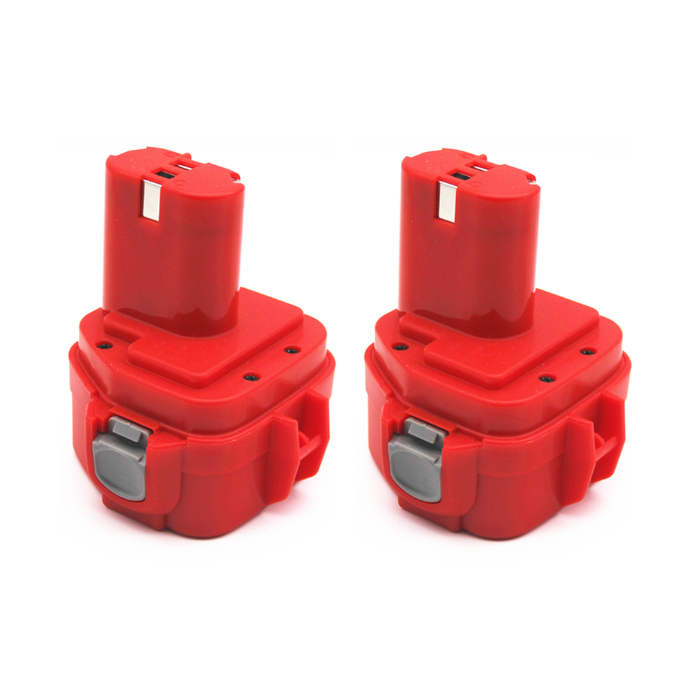 2Pcs 12V Ni-CD PA12 2000MAH Replacment Battery for Makita Rechargeable Power Tools 1222 1220 6271D 192598-2 193981-6 638347-8 2pcs 12v 2000mah ni cd rechargeable battery for makita pa12 1220 1222 192681 5 1050d 5093d 4331d