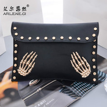 Carteira Feminina 2016 New Vintage Skull Rivet Shoulder Bags Women Flap Messenger Famous Brands Tassen Crossbody Bags Sac A Main