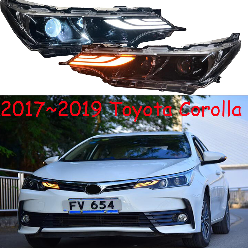 Car Styling For Corolla Headlight,2017 2018 2019year,altis Bumper Light,hid Xenon,car Accessories,corolla Daytime Light