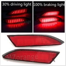 лучшая цена 1 pair LED Rear Bumper Reflector For Ford Focus 3 Sedan 2012-2014 Hatchback Brake Light Warning Lamp Auto Parts Car Styling