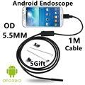 Эндоскопа Бороскоп USB Android Инспекции Камеры HD 6 LED 5.5 мм Объектив 720 P Водонепроницаемый Автомобиля Endoscopio Трубы мини-Камеры 1 М