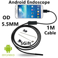 Cámara de Inspección endoscopio Endoscopio USB Android HD 6 Tubo LED 5.5mm Lente 720 P Impermeable Coche Endoscopio mini Cámara 1 M