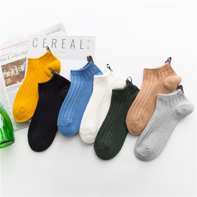 2018 new men socks 5 pairs cotton solid color short invisible socks new spring summer breathble high quality mens socks
